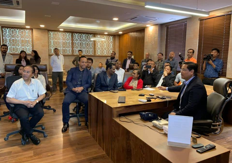 Official Launch of MeghaMart website by CM Conrad Sangma